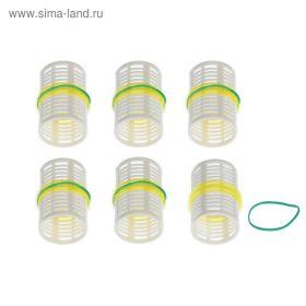 Бигуди пластиковые с резинкой d4см (набор 6шт)