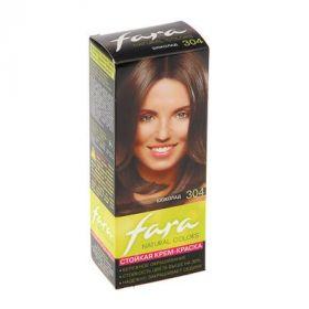 Краска для волос Fara Natural Colors, тон 304, шоколад, 160 г