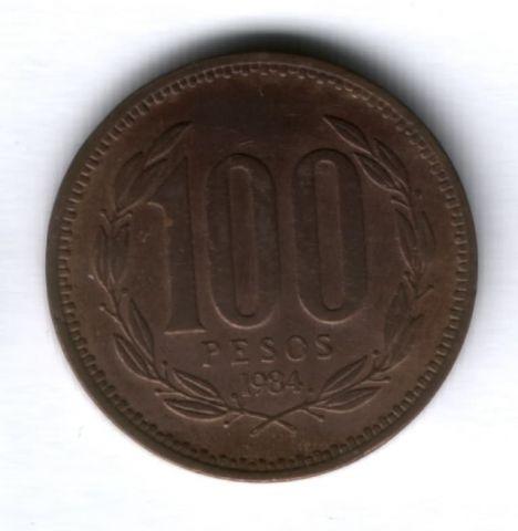 100 песо 1984 г. Чили