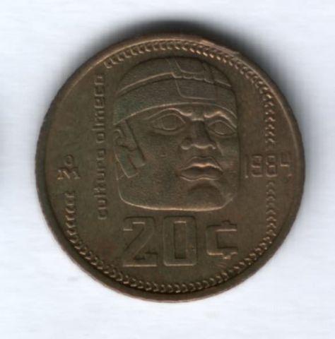 20 сентаво 1984 г. Мексика