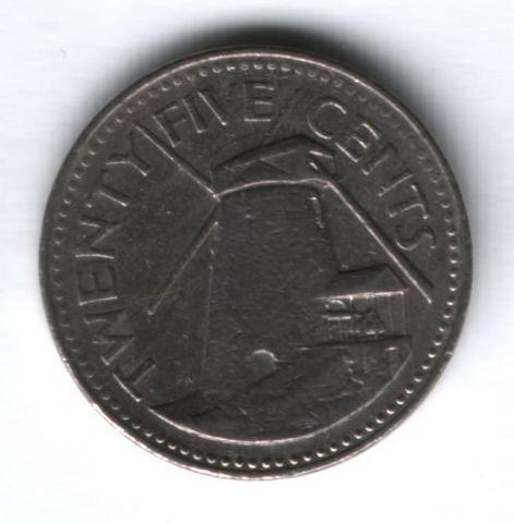 25 центов 1985 г. Барбадос