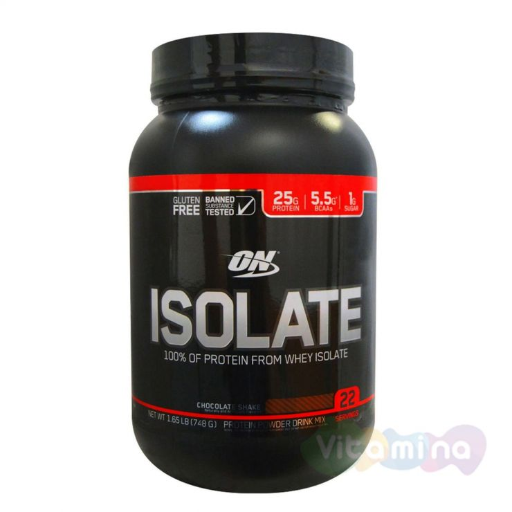 ​Изолят Optimum Nutrition Isolate GF 1,65lb (0,75 кг)