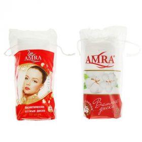Ватные косметические диски Amra, 50 шт.