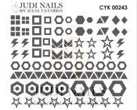 Трафарет Deep design для дизайна ногтей #243
