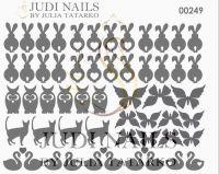 Трафарет Deep design для дизайна ногтей #249