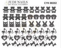 Трафарет Deep design для дизайна ногтей #252