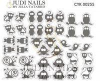 Трафарет Deep design для дизайна ногтей #255