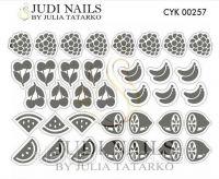 Трафарет Deep design для дизайна ногтей #257