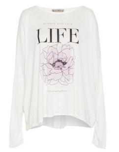 Трикотажна блуза с принт