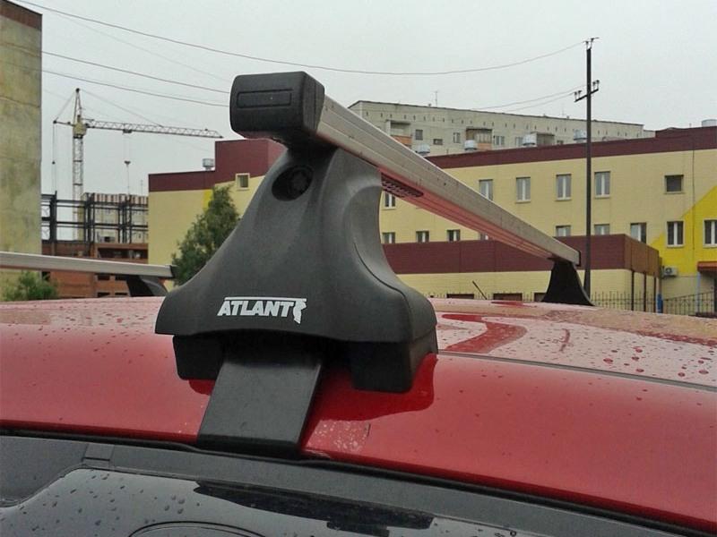 Багажник на крышу на Kia Sportage 2016-... (без рейлингов), Атлант, прямоугольные дуги