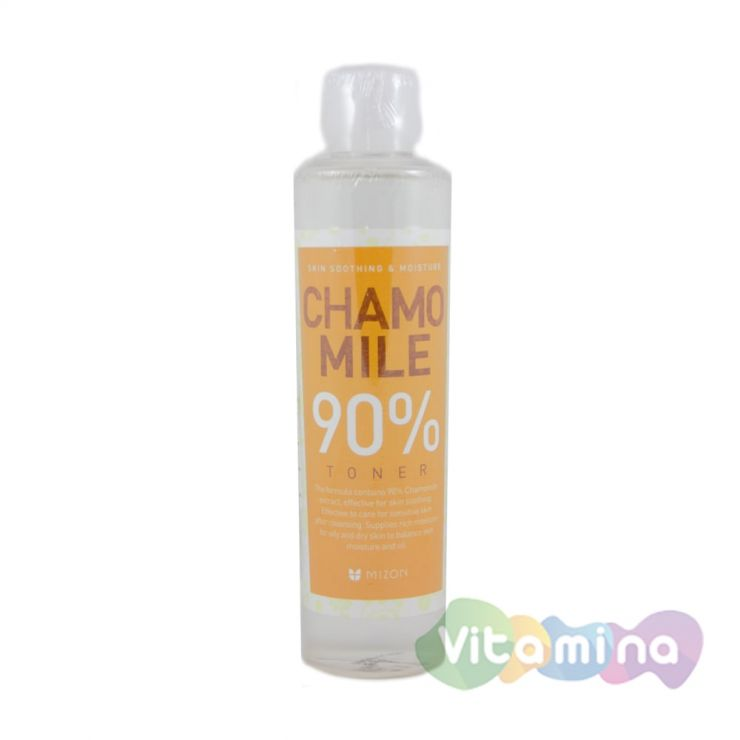 Тоник с экстрактом ромашки 90% - Mizon Camomile 90% Toner