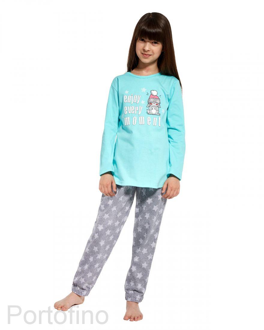 975-79 Пижама для девочек с длинным рукавом Cornette