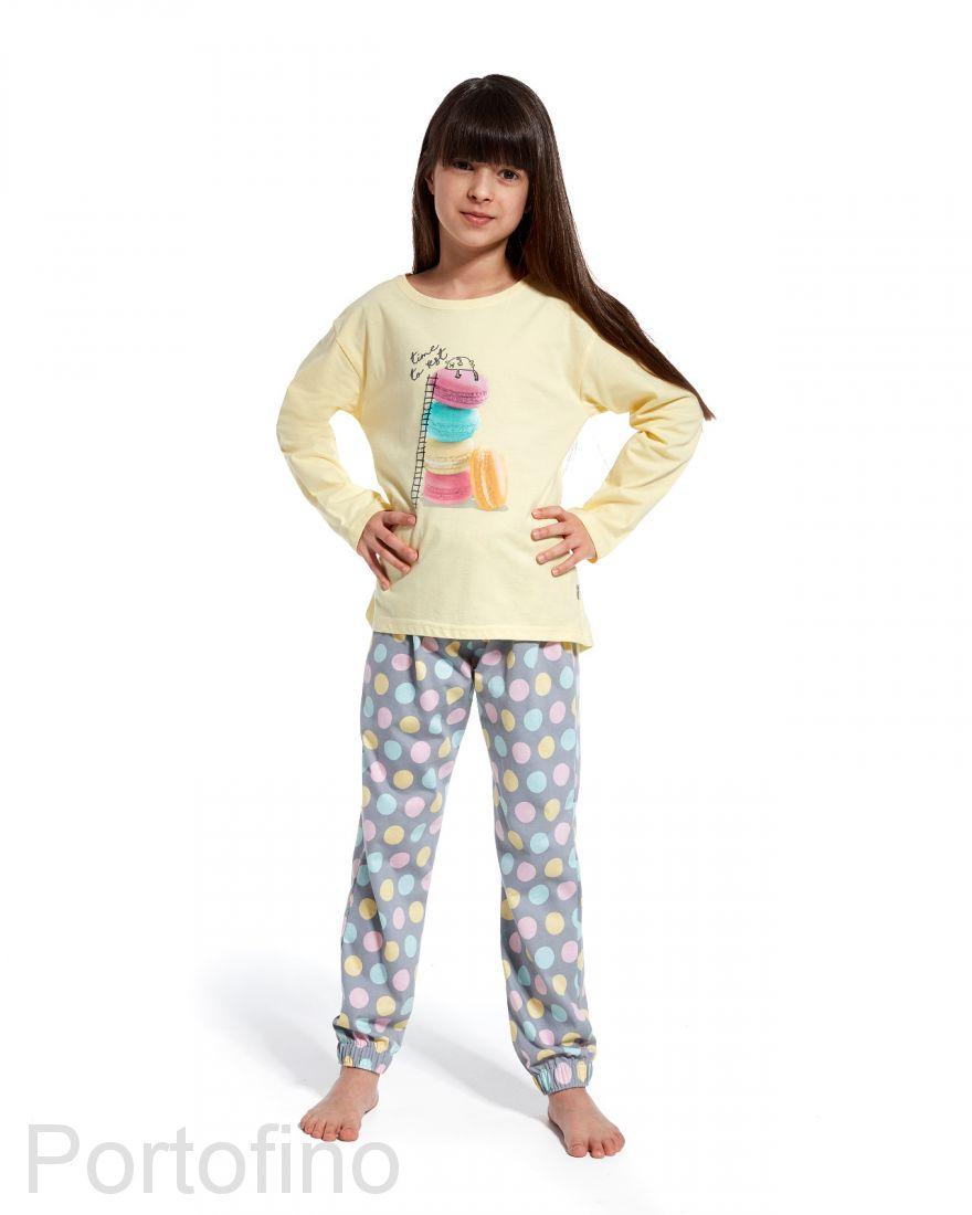 973-83 Пижама для девочек с длинным рукавом Cornette