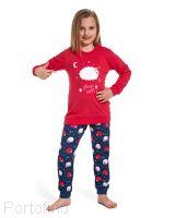 Красивая детская пижамка для девочек из мягкого хлопкового полотна.