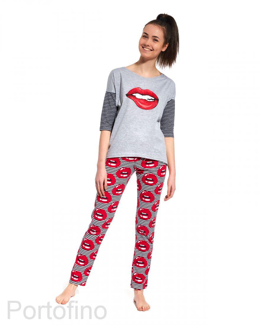 200-27 Пижама для девушек с длинным рукавом Cornette