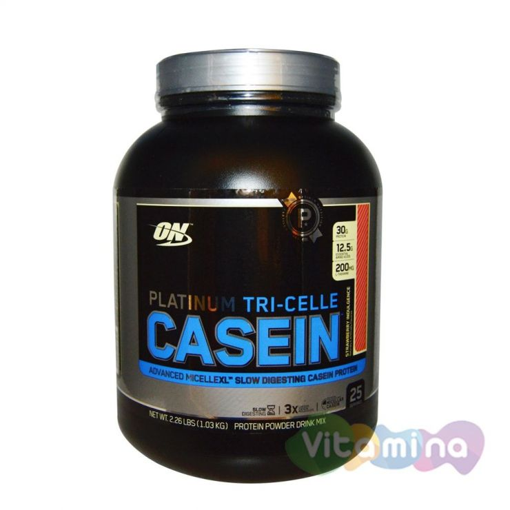 Казеиновый протеин Optimum Nutrition Platinum TRI-Celle Casein 2,3lb (1,2 кг)