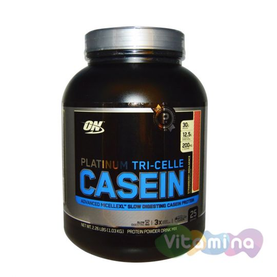 Казеиновый протеин Optimum Nutrition Platinum TRI-Celle Casein 2,3lb (1,2 кг)