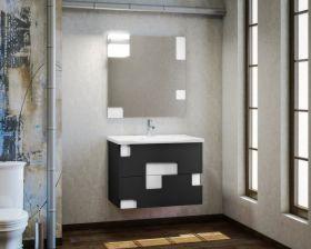 Комплект мебели Smile Санторини 80 серый/белый