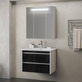 Комплект мебели Smile Фреш 80 белый/черный