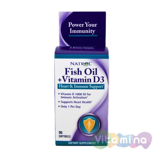Natrol Fish Oil & Vitamin D3 (Рыбий жир и витамин D3)