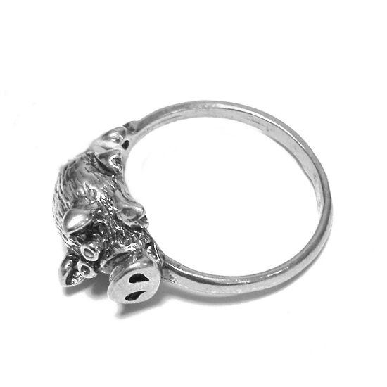 Кольцо Мистер Свин серебряное
