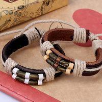 Кожаный браслет с фурнитурой