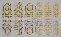 """Наклейки для ногтей """"Золото"""" NFM 033"""
