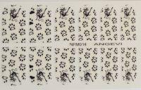 """Наклейки для ногтей """"Черные"""" NFM 014"""