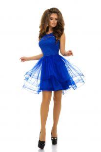 Къса рокля с дантела