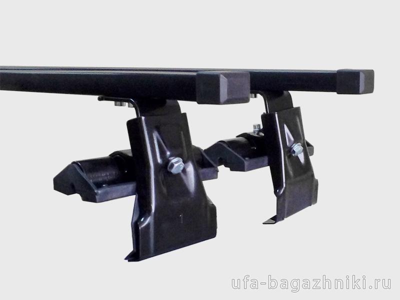 Универсальный багажник на крышу Евродеталь, вид А, стальные прямоугольные дуги